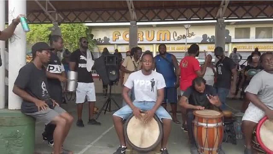 Gwo-ka à La Darse de Pointe-à-Pitre avec Kamas.